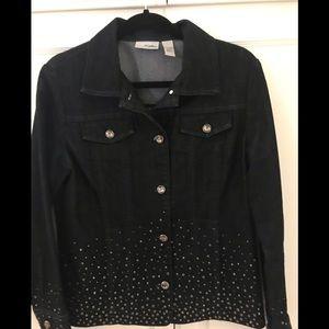 Chico's embellished Jean jacket.